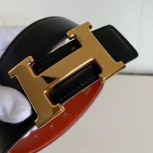 Hermes H buckle belt